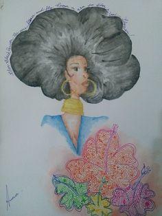 bp  #drawing #aquarela #blackpower #blackgirls