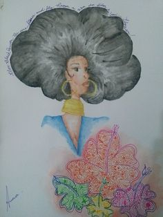 bp  #drawing #aquarela #blackpower #blackgirls