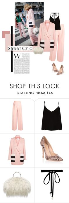 """""""Hearts & Stripes"""" by lisalockhart ❤ liked on Polyvore featuring MaxMara, Raey, Gianvito Rossi, Joomi Lim, GetTheLook and StreetStyle"""