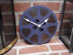 16 mm Movie Reel Clock Repurposed and Upcycled Movie by lahaine
