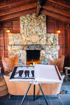 We love this cozy fireplace for chilly nights in the desert. Stay at Sparrows Lodge hotel in palm springs on your next visit. #palmsprings #travel #hotel #restaurant #lunch #food #drink #winecocktail #thetastesf