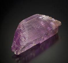 Spodumene var. Kunzite from Vanderberg Mine, Pala, California, found in 1951 by George Ashley.