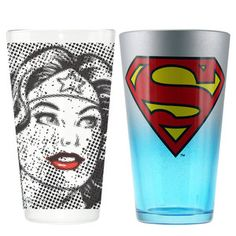 Wonder Woman & Superman 'his and hers' cups PRIZE IDEAS 4 BEST DRESSED