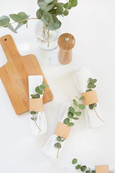 DIY | leather napkin rings @burkatron