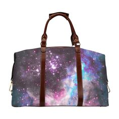 Galaxy cluster Classic Travel Bag (Model 1643) Luggage Cover, Snake Skin Pattern, Knit Sneakers, Waterproof Fabric, Blue Design, Slip On Shoes, Travel Bags, Shoulder Strap, Tote Bag