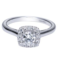 Contemporary halo - love the profile of this one - http://www.gabrielny.com/engaged/style/ER8708W44JJ