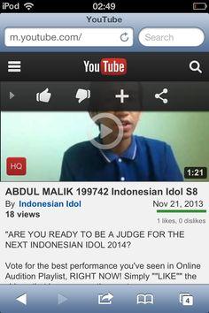 #VOTE #ME #INDONESIANIDOL2014