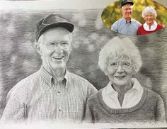 Original pencil drawing portrait painting,custom pencil sketch portrait,photos to drawing,hand painted pencil portrait on paper, couple gift by CustomYourPortrait on Etsy https://www.etsy.com/listing/499157381/original-pencil-drawing-portrait