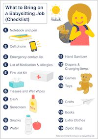 What to Bring Babysitting? Items to Pack + Checklist) Babysitter Printable, Babysitter Checklist, Babysitter Notes, Babysitting Flyers, Babysitting Activities, Cool Babysitting Ideas, Babysitting Jobs Near Me, Rainy Day Activities, Family Activities