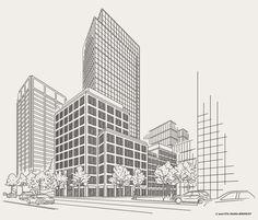 Illustrationen für die Deutsche Pfandbriefbank pbb on Behance Illustration, Skyscraper, Multi Story Building, Behance, German, Architecture, Skyscrapers, Illustrations