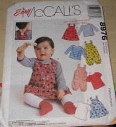 McCalls Pattern 8976 Jumper and Jumpsuit for Baby by KHess14265