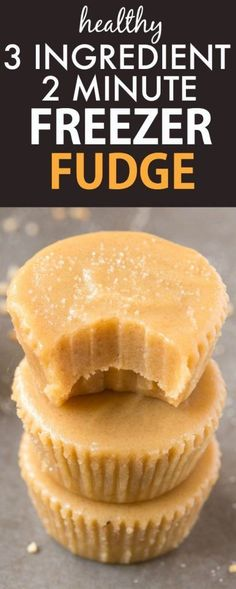 Healthy No Bake 3 Ingredient Freezer Fudge ready in TWO minutes, including prep! Smooth, creamy and decadent, but with NO butter, condensed milk, dairy or sugar! {vegan, gluten free, paleo recipe}- http://thebigmansworld.com