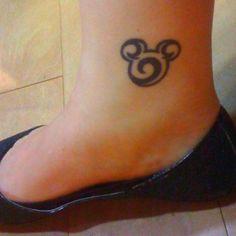 Love this Mickey head tattoo.