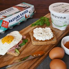 Two great sources of protein. One delicious sandwich. Try this power combo made with rich and creamy Muuna cottage cheese and Handsome Brooke Farm pasture raised eggs today!