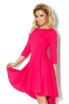¾ Sleeve Pink Midi Dress with Long Back Hi Low Dresses, Summer Dresses, Formal Dresses, Pink Dresses, Pink Midi Dress, Robes Midi, Budget Fashion, Camden, Fashion Company