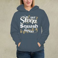 Hoodie - Eat Sleep Squash Repeat