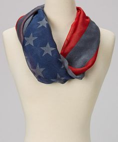 Loving this Gray & Red Patriotic Flag Scarf on #zulily! #zulilyfinds