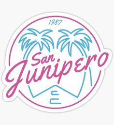 Black Mirror San Junipero NEON Sticker