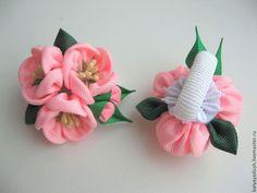 Купить Резиночки для волос Цветущая вишня - бледно-розовый, розовый, япония, цветы вишни, сакура