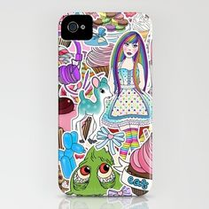 Candy Pop World - iPhone case by jadeboylan - http://society6.com/jadeboylan/Candy-Pop-World_iPhone-Case