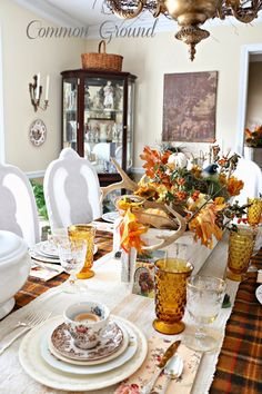 Nature Inspired Thanksgiving Tablescape