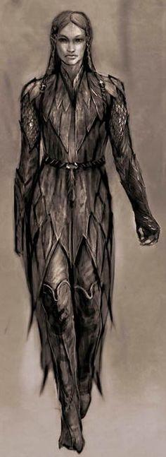 Warrior Woman - grayscale sketch