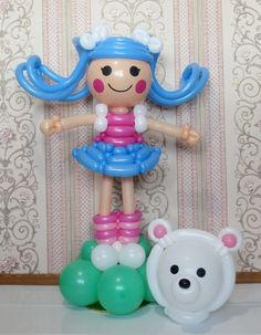 Lalaloopsy with Polar bear balloon Лалалупси Снежинка с белым мишкой из шаров