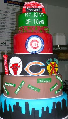 Chicago Sports Cake. OMG, I AM IN LOVE!!!