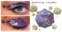 Koffing inspired make up Pokemon Makeup, Pokemon Halloween, Festival Makeup, Makeup Inspo, Print Tattoos, Make Up, Costume, Inspired, Hair