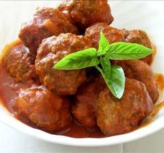 """Italian Meatballs: """"These are, without a doubt, the BEST meatballs I've ever made. My mother-in-law was Italian and I never came close to her meatballs, but this recipe tops hers!"""" -queenieg"""