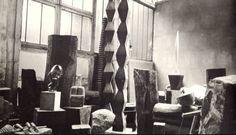 Constantin Brancusi's studio