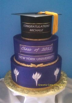 NYU Graduation Cake #college #graduation