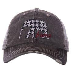 Alabama Houndstooth Elephant Trucker Hat