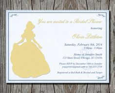 Disneys Beauty And The Beast Bridal Shower By Pegsprints On Etsy 1400