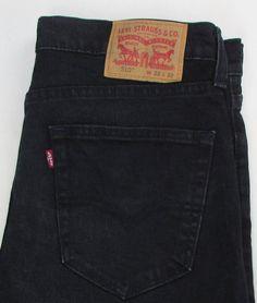 Men Levis Levi's Red Tab 510 Jeans Skinny Leg Dark Wash Black / Blue sz 32 X 30