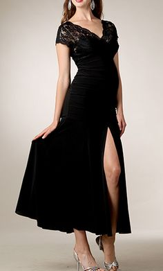 Sexy Giselle Lace Long Formal/Evening Maternity Dress