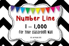 Number line 1 to 1,000 {BIG - for your wall} This is a MUST HAVE for every classroom.  Print, cut and stick!