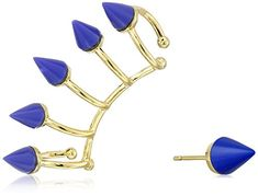"Noir Jewelry ""Memphis"" Nathalie Earrings and Ear Cuffs -- You can get more details by clicking on the image."
