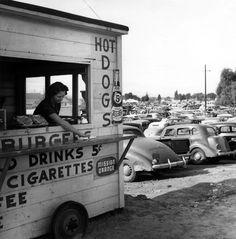 Lunch Stand, Burbank c.1940 © Ansel Adams