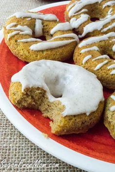 Low carb Pumpkin Donuts. Sugar Free, Gluten Free, Grain Free!