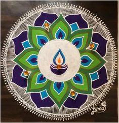 New and Simple Rangoli Design Images For Diwali 2019 - Buy lehenga choli online Indian Rangoli Designs, Rangoli Designs Latest, Simple Rangoli Designs Images, Rangoli Designs Flower, Rangoli Patterns, Rangoli Ideas, Rangoli Designs With Dots, Kolam Rangoli, Flower Rangoli