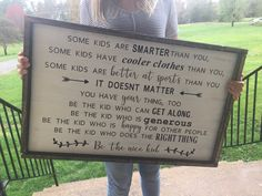 Be the Nice Kid What an amazing poem for the kids room. This was released to me by the writer and I am so thankful because this is AMAZING. #kids #signs #farmhouse #homedecor #cute #diy