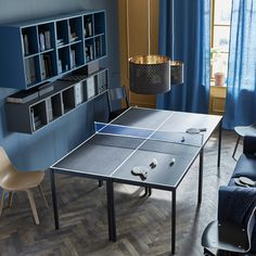 With 4 tables, a bit of white decorative tape, and a ping pong net, you've got yourself a Friday night tournament. See more options at #IKEAIDEAS