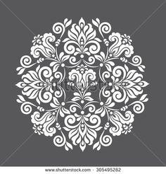 Ornamental round floral pattern. Decorative element for design. Vector illustration. - stock vector