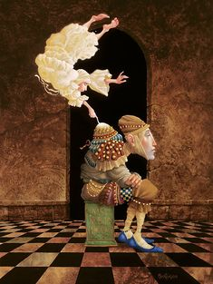"""James Christensen                                                               """"Sometimes The Spirit Touches Us Throught Our Weaknesses"""", 1994."""