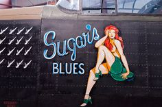 Pin up girls, like the ones pilots painted on their planes back in the day Nose Art, Military Art, Military History, Military Salute, Pin Up Drawings, Random Drawings, License Plate Art, Aircraft Painting, Airplane Art