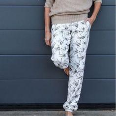 Einfache Jogginghose für Damen, auch in großen Größen - Nähanleitung und Schnittmuster via Makerist.de