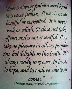 Love is always patient and kind. It is never jealous. Love is never boastful and conceited. It is never rude or selfish. #LVU