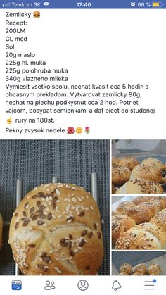 Breakfast Bake, Bread Rolls, Hamburger, Muffin, Food And Drink, Tasty, Meals, Baking, Rolls