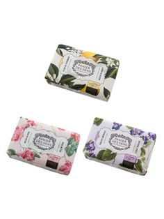 (Own) (Imperial Violet, Lemon Blossom and Rose Nectar) Soaps by Panier Des Sens